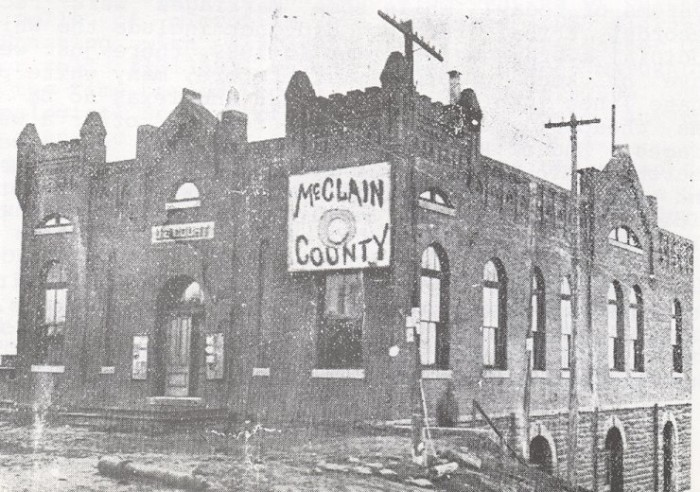 9. McClain County Court House/Old Federal House- 1895-1907. Located at the NE corner of Main St. and Canadian St.