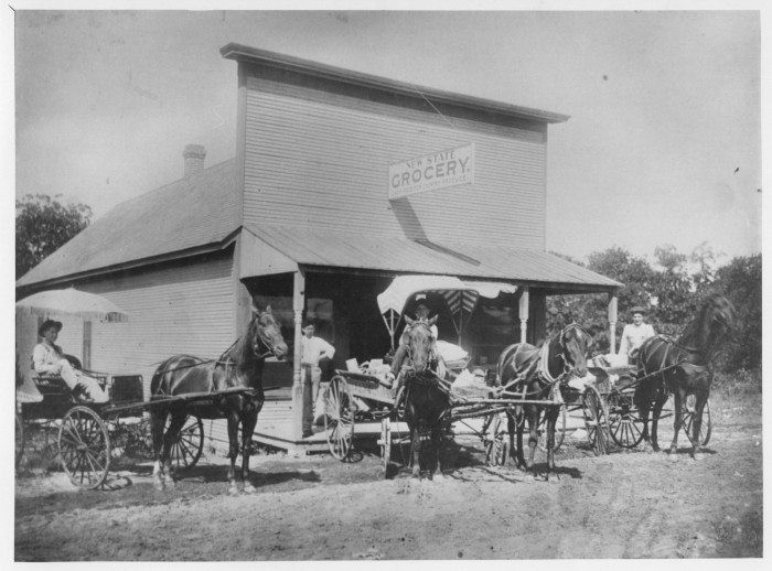 7. New State Grocery in Shawnee, OK,  in 1900.