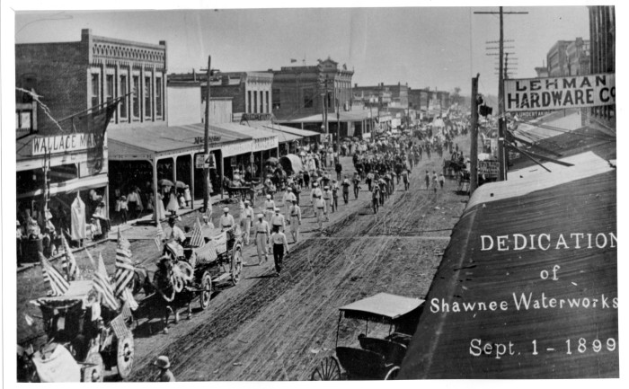 3. The dedication of the Shawnee Waterworks on September 1, 1899.