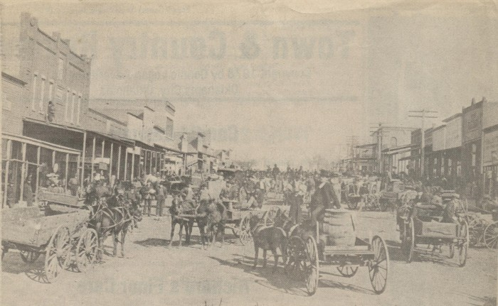 1. Taken in Wanette, Oklahoma Territory in 1906. Oklahoma did not become a state until November 16, 1907.