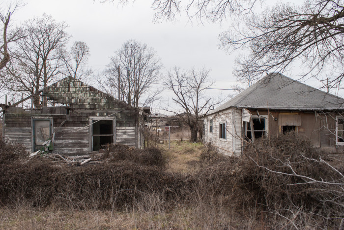 Creepy and abandoned looking homes.