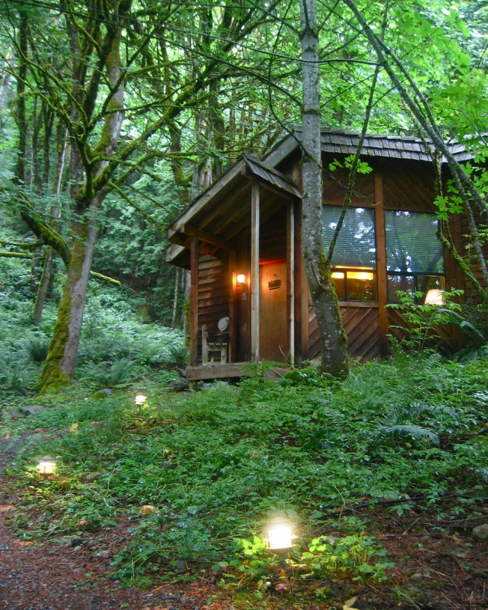 2. Make a private getaway in a cabin, like the Wellspring Woodland Spa in Ashford.