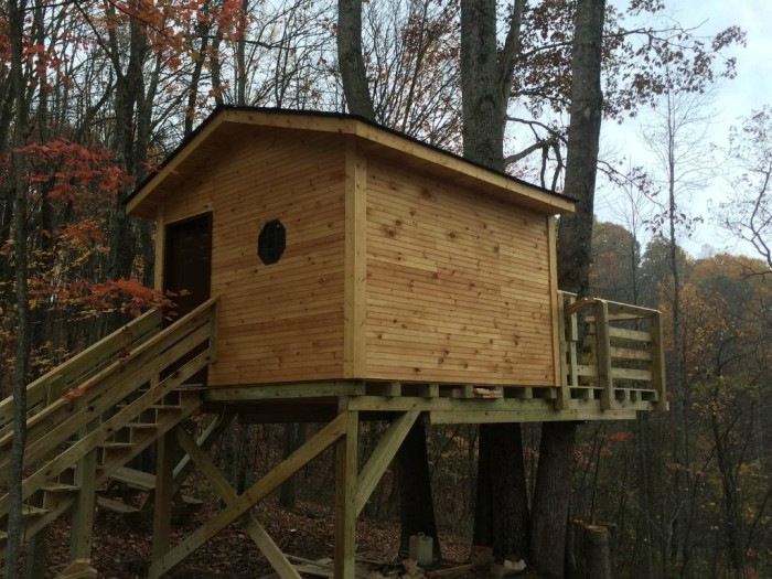 3. The treehouses at Buffalo Trail Cabins in Bluefield