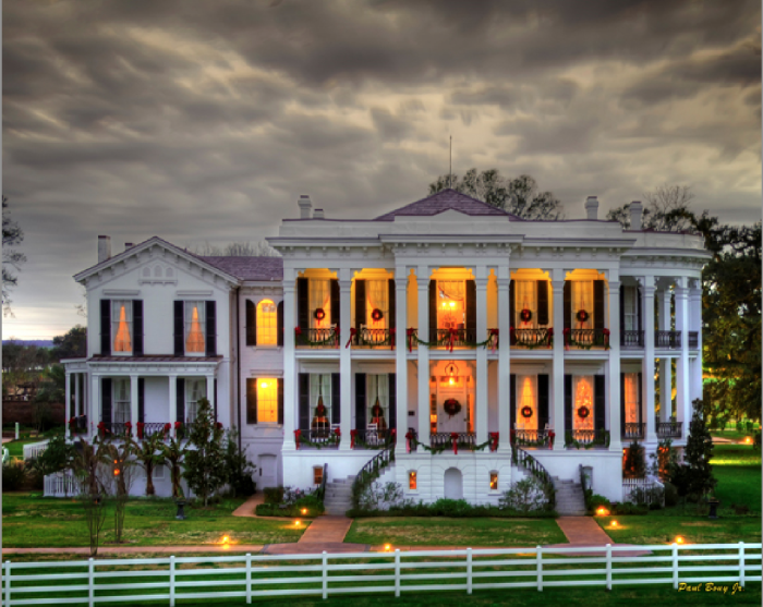 1) Nottoway Plantation at Night by Paul Bouy