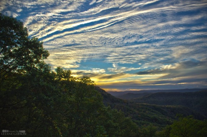 10. This sunset at Pipestem State Park.