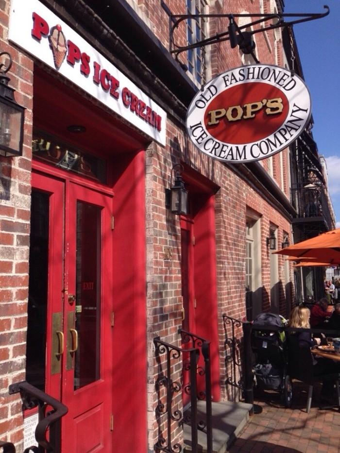 13. Pop's Old Fashioned Ice Cream, Alexandria