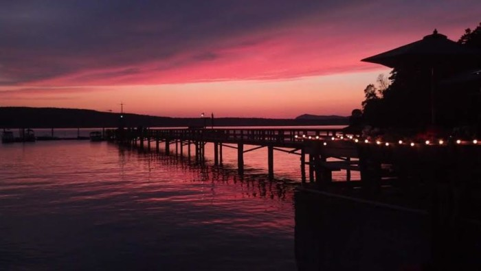 7. A rosy sunset on Orcas Island, captured by Cara Thomas.