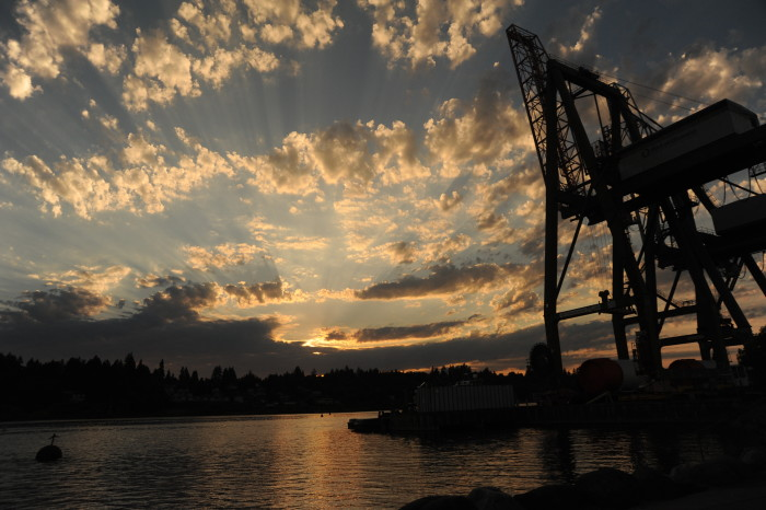 5. The entire sky made for a breathtaking backdrop here at the Port of Olympia!