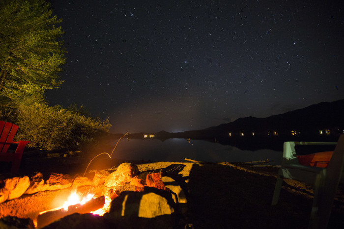 4. A night by Lake Quinault never looked so warm and inviting.