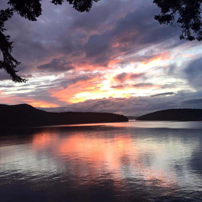 10. Cheryl Hellam kindly shared this beautiful sunset by Fidalgo Island!