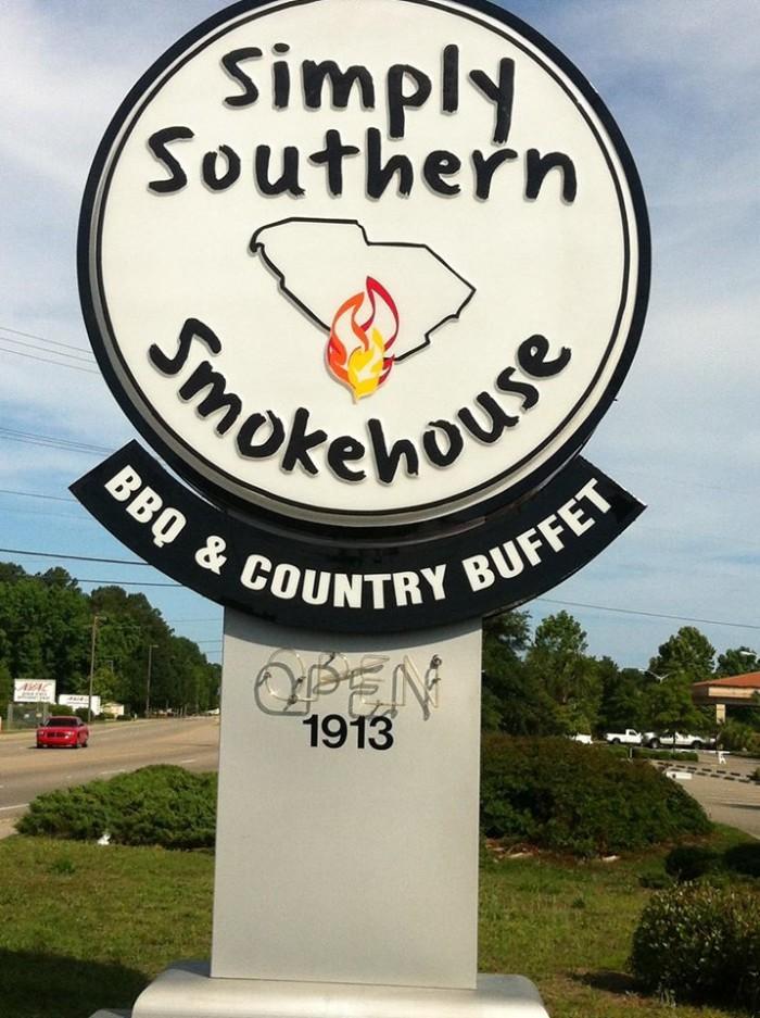 9. Simply Southern Smokehouse, 1913 Mr. Joe White Ave, Myrtle Beach