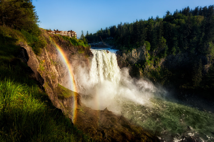 7. Snoqualmie Falls is such an incredible sight to see, especially with a glorious rainbow!