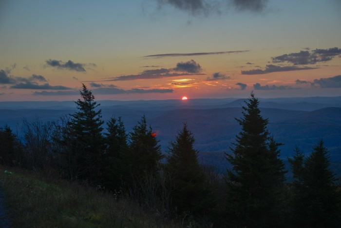 14. A beautiful sunset from Spruce Knob.