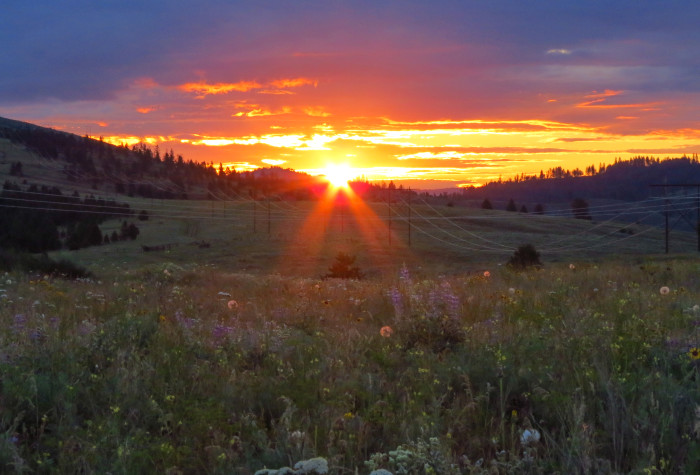 10. This warm Sunday morning sunrise was captured by the Colville Reservation!