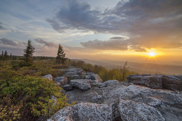 9. This sunrise at Dolly Sods.