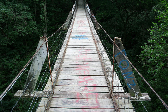 10. Lovers Leap Swinging Bridge
