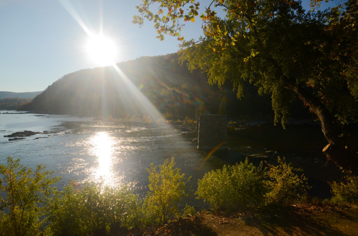 7. This sun-shiney view of Harpers Ferry.