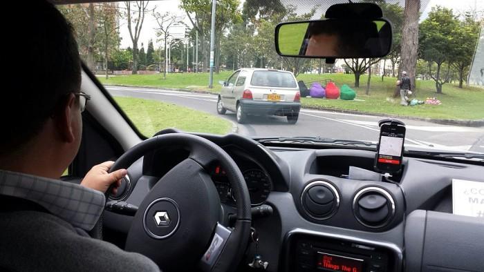 4. Taking Uber somewhere.