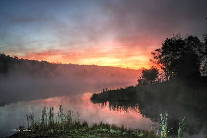 2. Another beautiful sunrise in Keystone State Park.
