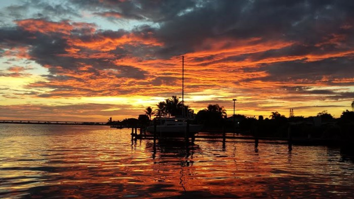 1. Thanks to Angela Poag for this photo of a sunset on the St. Lucie River in Jensen Beach.