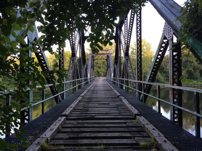 6. An old railway bridge along the Great Allegheny Passage in Connellsville.
