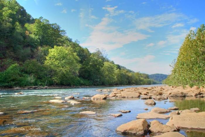 8. Kiskiminietas River in Apollo along the Roaring Run Trail.