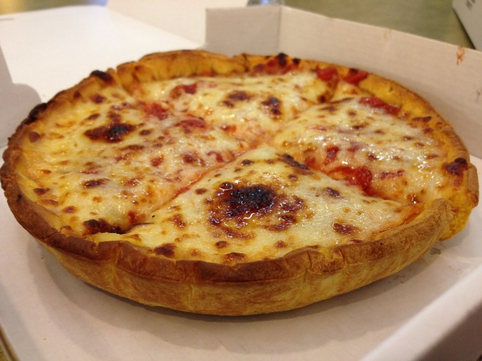 3. Deep dish pizza.