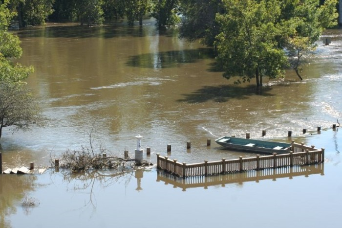 5. The entire state is underwater with floods.