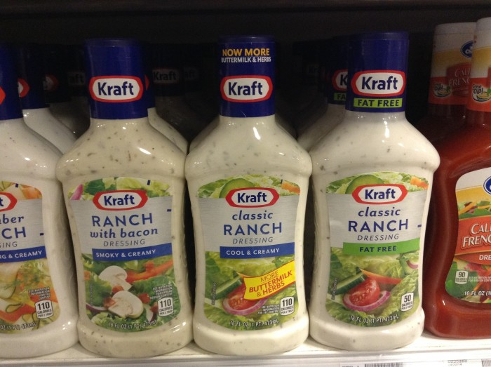 2. Ranch dressing