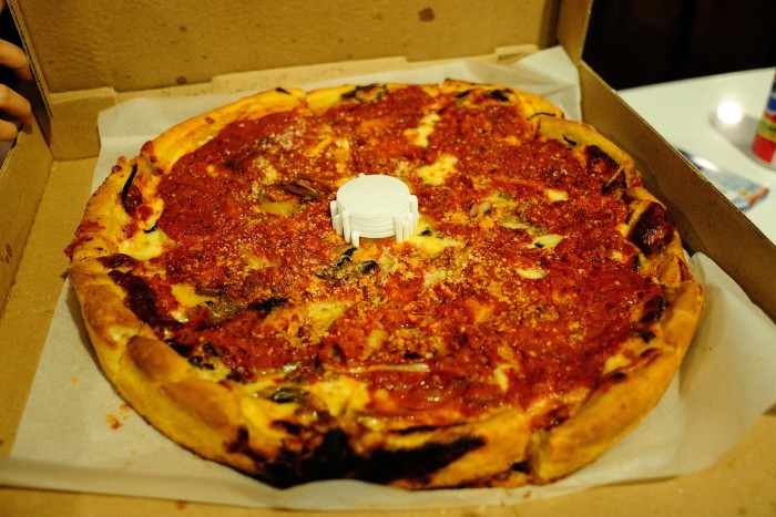 5. Deep dish pizza