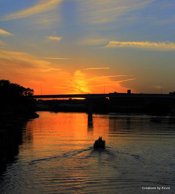 2. Kevin took this shot while carp fishing on the Illinois River in Peoria.