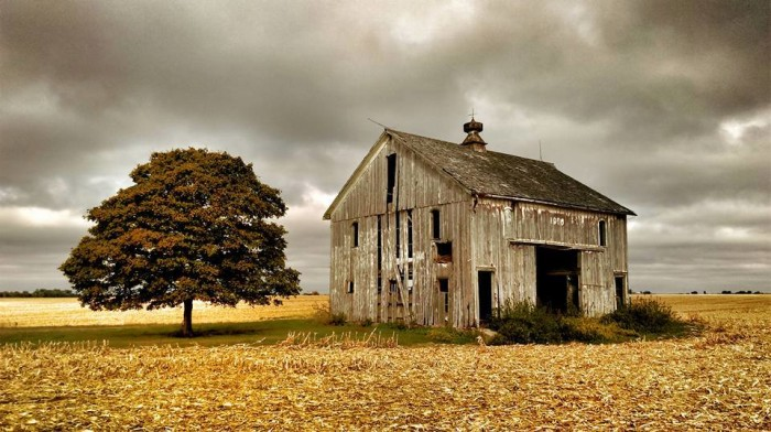 5. This Warren County barn might be abandoned, but it is still beautiful.