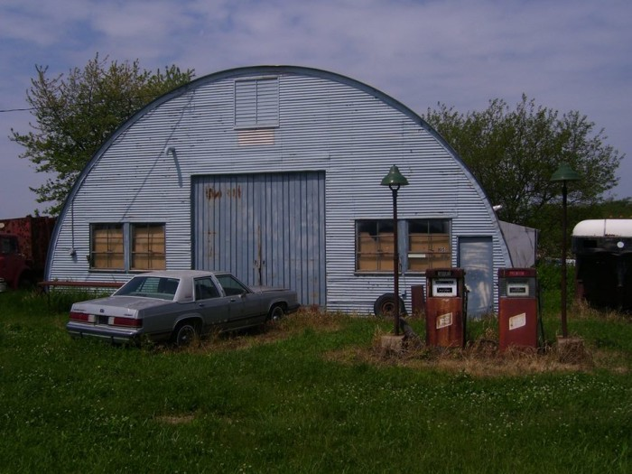 14. An old gas station at Cramer in western Peoria County hasn't been used for a while, but it makes for a great shot.