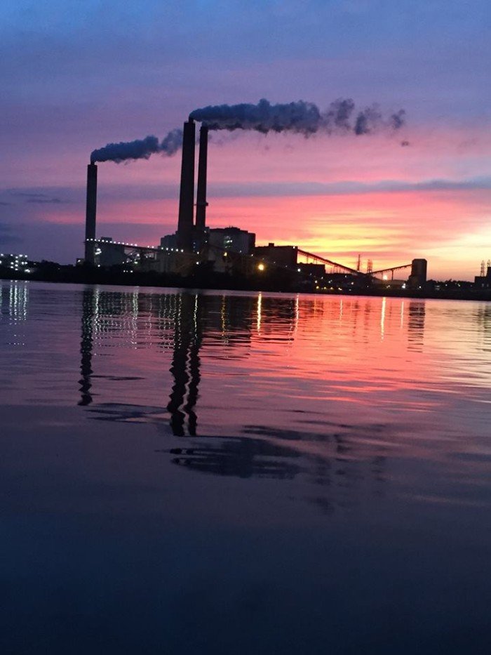15. I never knew smokestacks could look so lovely--this shot taken from Lake Springfield by Andrea.