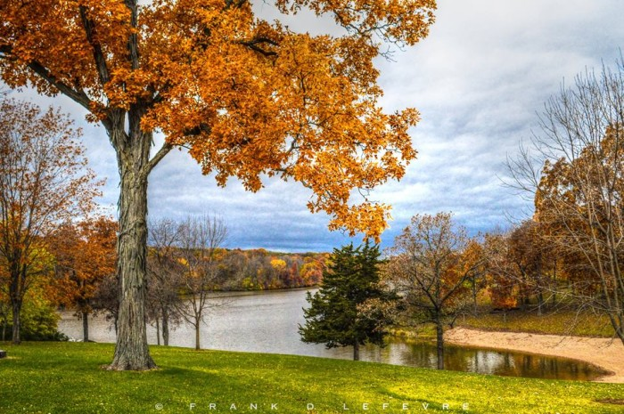 16. Frank found a great place to take photos in Autumn, over in Lena by Lake Le-Aqua-Na.