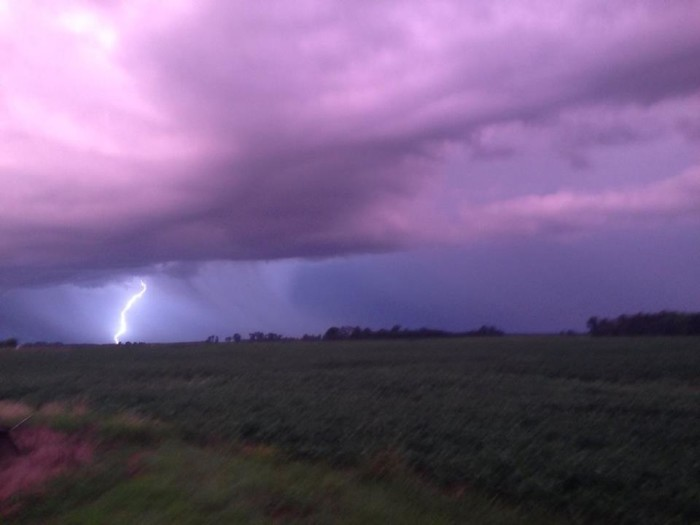 17. Jack captured this storm in Clay County, Illinois. Look at that sky!