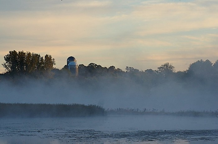 9. Look at this fog as it travels over Little Holmes Lake (Burnett County) one Sunday morning.