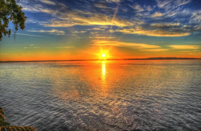 1. Has anyone taken a more breathtaking shot of a sunset reflection over Lake Monona?