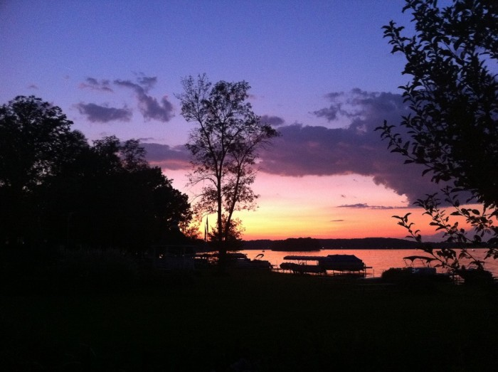 11. Isn't this purple sky over Pewaukee Lake one of the most beautiful you've ever seen?