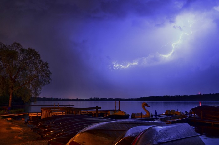 8. This shot of lightning over Lake Wingra is eerie and electrifying (no pun intended).