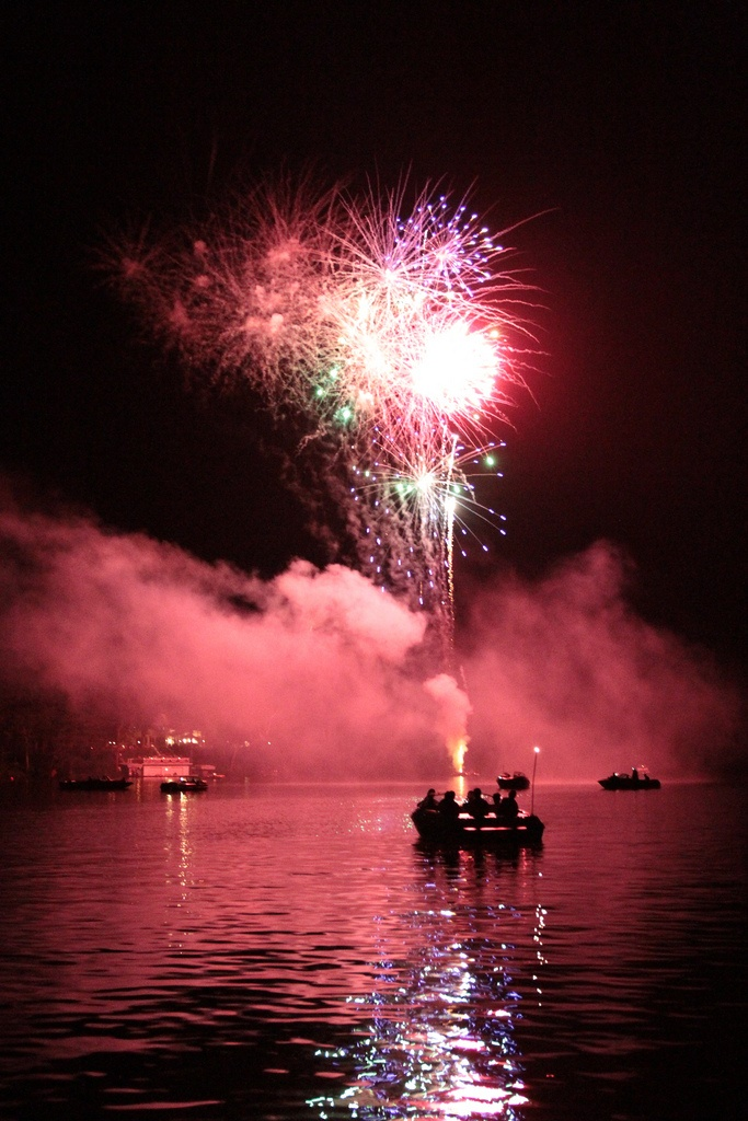 9. Everyone loves 4th of July fireworks in Wisconsin, but this shot of the festivities over Long Lake is unreal!