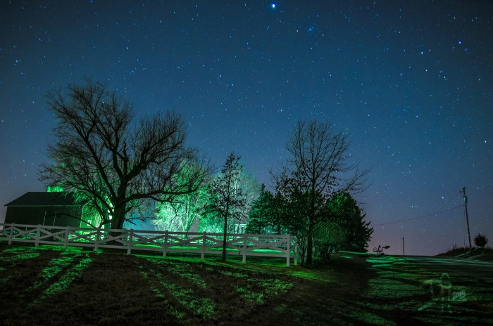 13. This photographer used cool exposure techniques to get this almost creepy, glowing shot of a Wisconsin farm in the middle of nowhere.