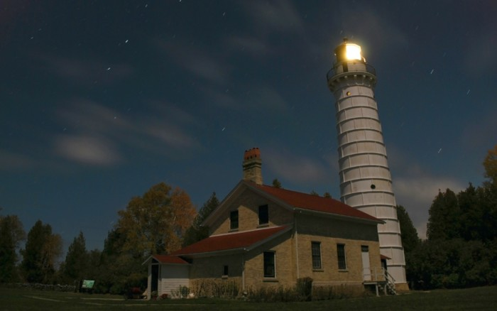 15. Wisconsin stargazing is a part of summer, like this shot in Cana Island Lighthouse Door County.