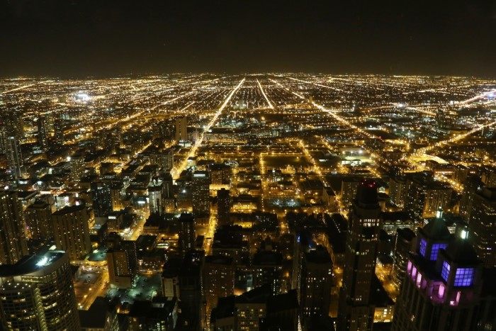 3. This grid is an incredible feat and it's really beautiful at night.