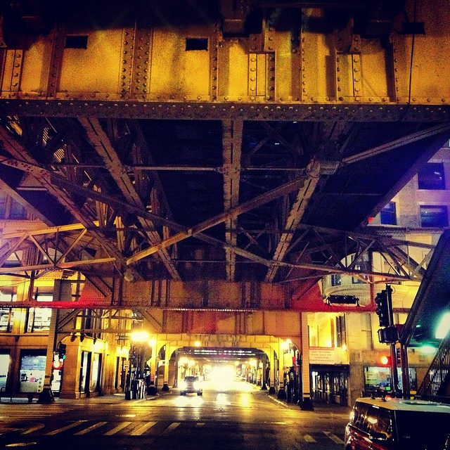 11. No pigeons are in this gorgeous shot under the L.