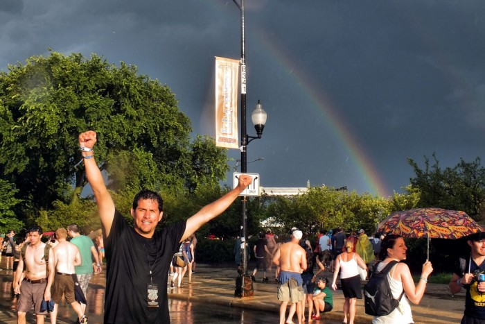 5. This rainbow appeared over Lollapalooza. Cool shot!