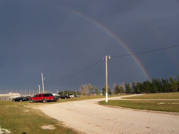 4. This rainbow showed up in the skies over Manitowoc.