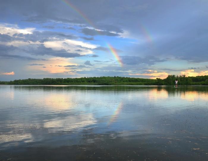 6. Richard caught this shot of a rainbow over Lake Wingra.