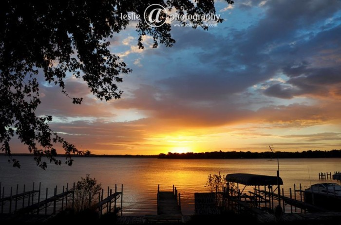 15. Check out this gorgeous sunrise that Leslie captured.