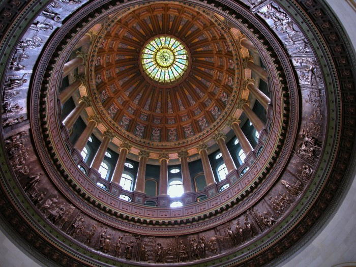 17. This is a great shot of our beautiful dome at the  Illinois State Capitol.